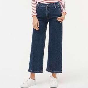J crew high rise cropped wide leg jeans 0251